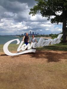 Oliver Tenfelde (l.) lebt momentan in Cleveland